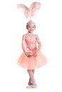 Little ballerina isolated on white background Royalty Free Stock Photo
