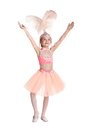 Little ballerina isolated on white background Royalty Free Stock Photos