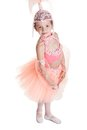 Little ballerina isolated on white background Royalty Free Stock Image