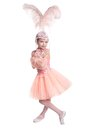 Little ballerina isolated on white background Stock Photos