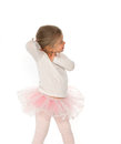 Little ballerina in pink tutu Stock Images
