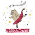 Little ballerina vector illustration Royalty Free Stock Photo