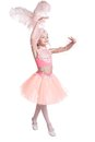 Little ballerina on white background Royalty Free Stock Image