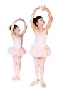 Little ballerina on white background Royalty Free Stock Images
