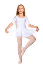 Little ballet dancer on a white Royalty Free Stock Image