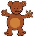 Little bear cartoon character