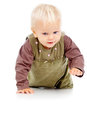 Little beautiful baby crawls Royalty Free Stock Photography