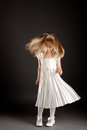 Little beautiful girl dancing in motion Royalty Free Stock Images