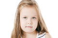 The little beautiful girl with long hair background Royalty Free Stock Photos