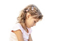 Little beautiful girl portrait sad Royalty Free Stock Photo