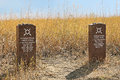 Little bighorn battlefield cheyenne grave markers the of two warriors killed at the battle of Royalty Free Stock Images