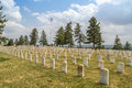 Little bighorn battlefield national memorial tombstones line montana dating back to Royalty Free Stock Image