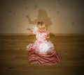 Little blonde girl and the magic spell Royalty Free Stock Photo