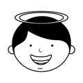 Little boy angel character