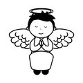 Little boy angel character