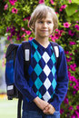 Little boy with a backpack. Education, back to school, people concept Royalty Free Stock Photo