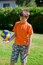 Little boy with ball Royalty Free Stock Photo