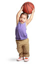 Little boy with basketball Royalty Free Stock Images