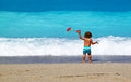 Little boy on the beach as concept for summertime Royalty Free Stock Photography
