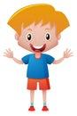 Little boy in blue shirt