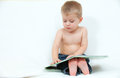Little boy with a book Royalty Free Stock Photo