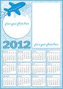 Little boy calendar 2012 Royalty Free Stock Images