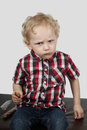 Little boy with candy Royalty Free Stock Photo