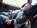 Little boy in car Royalty Free Stock Image