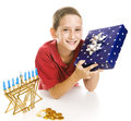 Little Boy Celebrates Chanukah Royalty Free Stock Photo