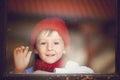 Little Boy, Child Behind The W...