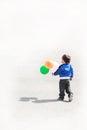 Little boy con los globos Foto de archivo libre de regalías