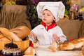 Little boy in the cook costume Stock Photos
