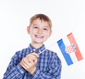 A little boy with croation flag Royalty Free Stock Photo
