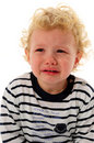 Little boy crying Royalty Free Stock Photography
