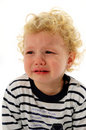 Little boy crying Stock Images