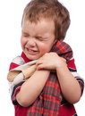 The little boy cuddle toy Royalty Free Stock Photography