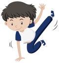 Little boy dancing hiphop