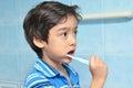 Little boy die tanden borstelen Royalty-vrije Stock Afbeelding