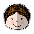 Little boy drawing isolated icon