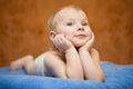 Little boy dreams Royalty Free Stock Photo