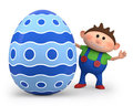Little boy with easter egg Royalty Free Stock Photography