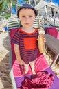Little Boy Eating A Bread