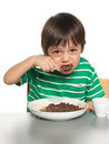 Little boy has his breakfast Royalty Free Stock Photo