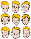 Little boy emotion cartoon  collection Stock Photo