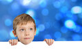 Little boy with empty space bokeh background Royalty Free Stock Photo