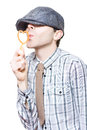 Little Boy Flirting With Heart Shape Bubble Blower Stock Photography
