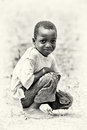 Little boy from Ghana poses Stock Images