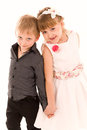Little boy and girl in love Royalty Free Stock Photo
