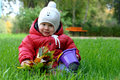 Little boy on the grass Royalty Free Stock Photo