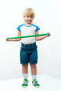 Boy with hoop Royalty Free Stock Photo